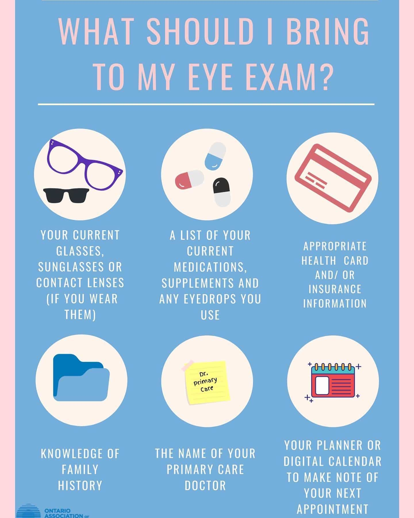 You don't have to study for your eye exam, but it's helpful to be prepared. These helpful hints from @ontariooptometrists are a great way to be organized for your next exam. You're always welcome to ask what to expect during exams and have any questions answered. We're always more than happy to help! Book an exam and don't miss out on our Winter Sale! #eyepractice #rockwoodoptometry #guelphoptometry #rockwoodoptometrist #guelphoptometrist