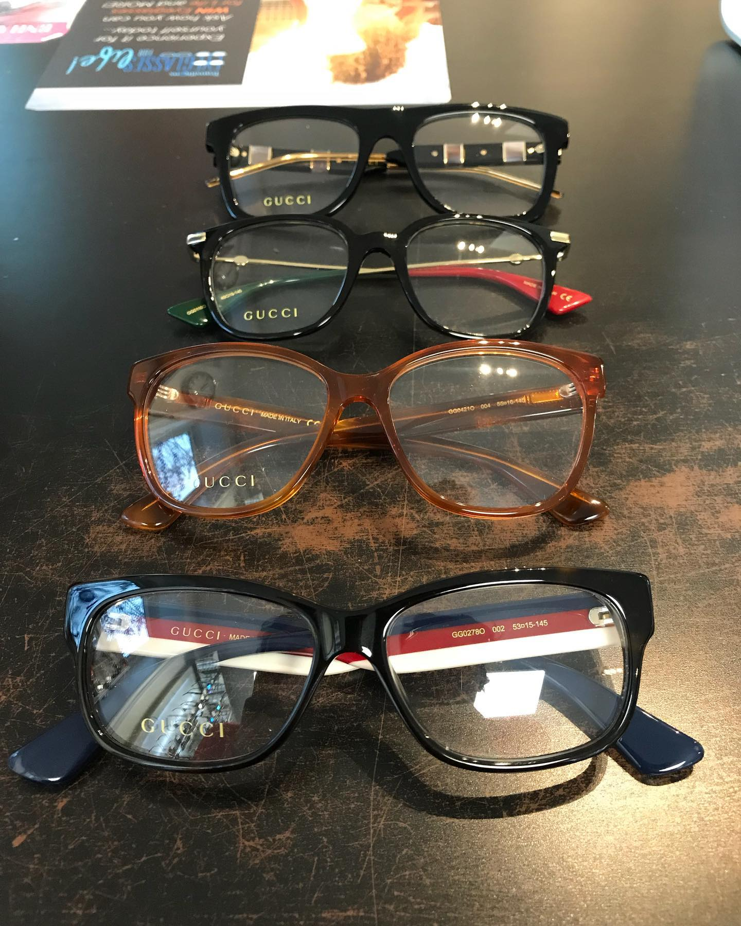 @gucci has some perfect frames to add a little bling to your every day look! Simple from the front, and bold statement on the side! Which ones are your favourite? #eyepractice #framefriday #newframes #rockwoodoptometrist #guelphoptometrist #rockwoodoptometry #guelphoptometry #sparkley