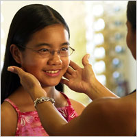 Description: Girl with eyeglasses